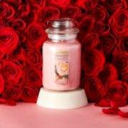 fresh cut roses large jar candle image number 1