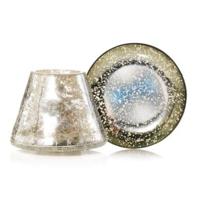 Kensington - Mercury on Crackle Glass