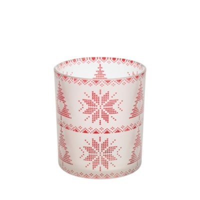 Red Nordic Frosted Glass - Large