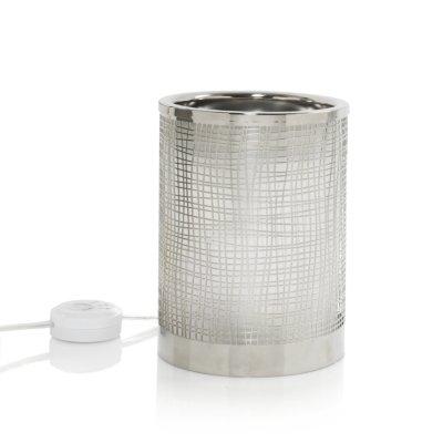 Crosshatch Silver w/ LED & Timer