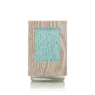 Beachwood & Seeded Glass with Light