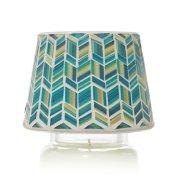 blue mosaic  jar candle shade image number 0
