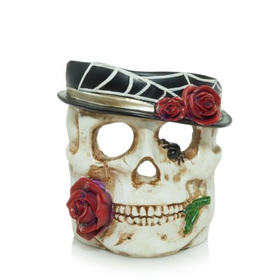 Phantasmagoria Skull Red Rose