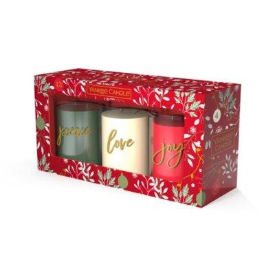 Geschenkset Mit Drei Tumbler-Kerzen