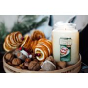christmas cookie large jar candles with cookies on tray image number 1