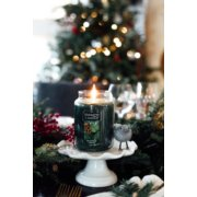 balsam and cedar green candles on candle tray image number 2