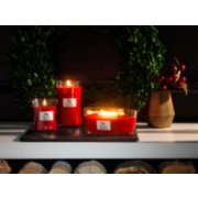 crimson berries jar candle on table image number 2