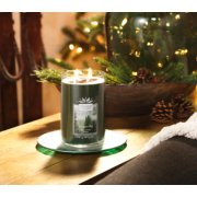 evergreen scented large 2 wick tumbler candle on table image number 1