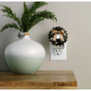 magical wreath with light christmas flameless scentplug diffusers in socket image number 2