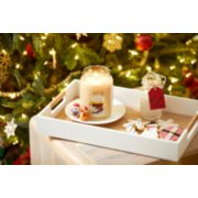 santas cookies large tumbler candle on plate inside the tray image number 2