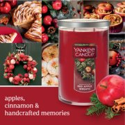 red apple wreath banner image number 1
