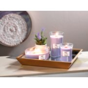 lavender spa candles on tray image number 1
