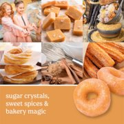 photo collage with baked goods and text that reads sugar crystals, sweet spices and bakery magic image number 1
