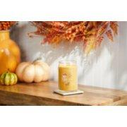 harvest signature large jar candle on table image number 2