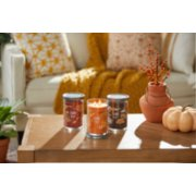woodland road trip, farm fresh peach, and cozy cabin escape signature large tumbler candles image number 4