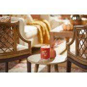 autumn leaves signature large jar candle on table image number 2