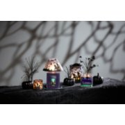 haunted hayride original large jar candle with yankee candle trio halloween candle on table image number 1