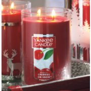 Large jar candle cherries on snow image number 1