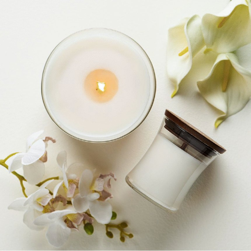 floral woodwick candles