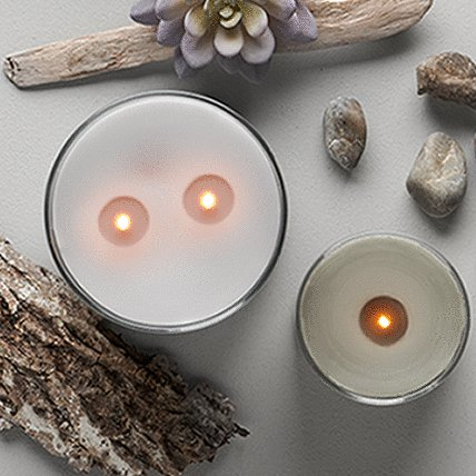 candle with decorative item
