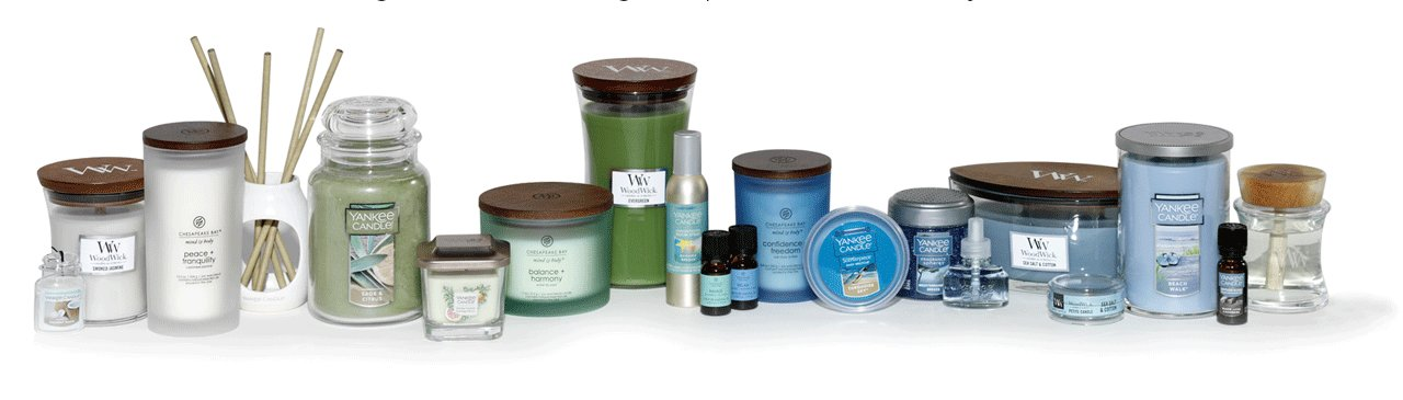 yankee candle, wood wick, and chesapeake bay candles terra cycle products