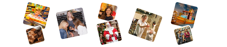 photos of christmas celebration on banner